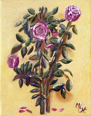 Poster featuring the painting Dew Upon The Roses by Margaret Harmon