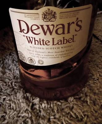 Dewars White Label Poster by Christopher Kerby