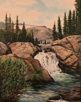 Dewey Falls Poster by Patti Gordon