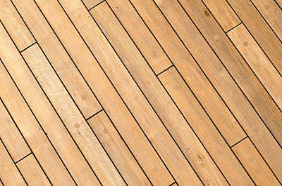 Diagonal Wooden Ship Deck Background Poster