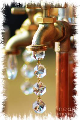Diamond Drops Poster by Lori Mellen-Pagliaro