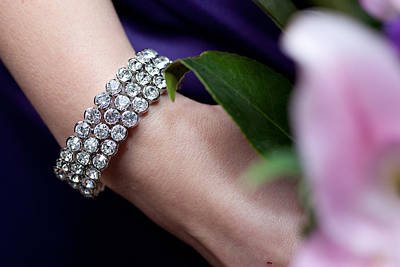 Diamonte Bracelet Poster by Carole Hinding