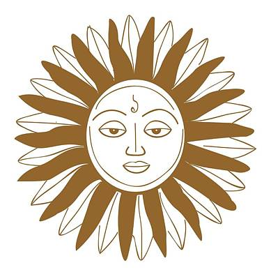 Digital Illustration Of Hindu Sun God Poster