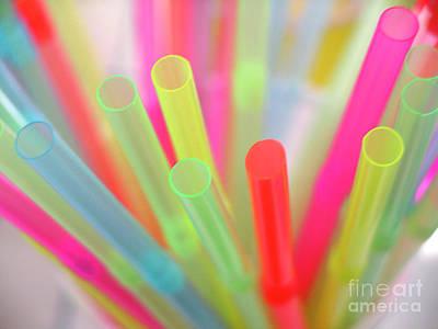 Drinking Straws Poster by Carlos Caetano