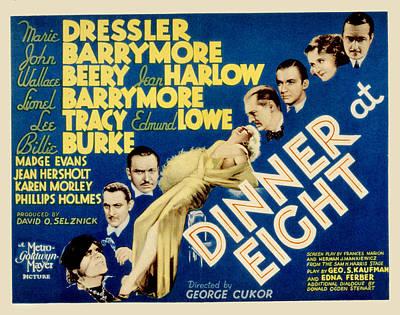 Dinner At Eight, Marie Dressler, John Poster