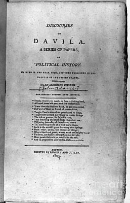 Discourses On Davila, 1790 Poster by Granger