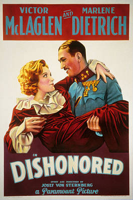 Dishonored, Marlene Dietrich, Victor Poster by Everett