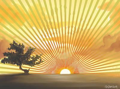 Diva's Sunset Poster