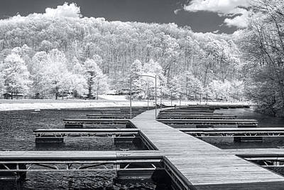 Poster featuring the photograph Dock In Infrared by Mary Almond