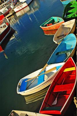 Dockside Gridlock Poster by Joann Vitali