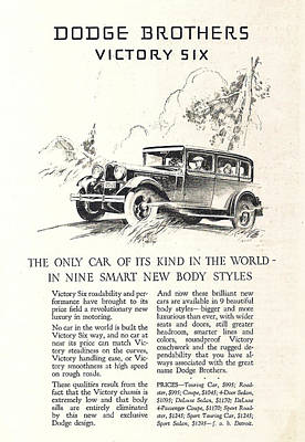 Dodge Brothers  Victory Six Poster