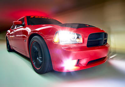 Poster featuring the photograph Dodge Charger by Anna Rumiantseva