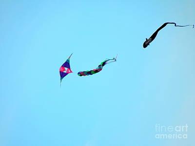 Dogfighting Kites Poster by Renee Trenholm