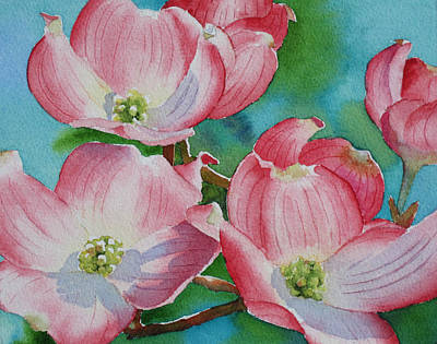 Dogwood Afternoon Poster by Judy Mercer