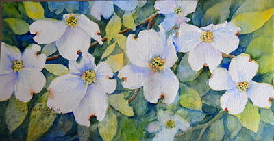 Dogwoods Poster by Cynthia Roudebush