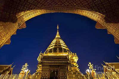 Doi Suthep Temple Poster by Anek Suwannaphoom