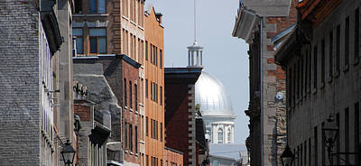 Poster featuring the photograph Dome Bonsecours Market by John Schneider
