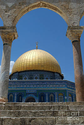 Poster featuring the photograph Dome Of The Rock  by Eva Kaufman