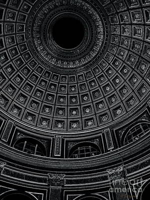 Poster featuring the photograph Dome. Vatican. Black by Tanya  Searcy