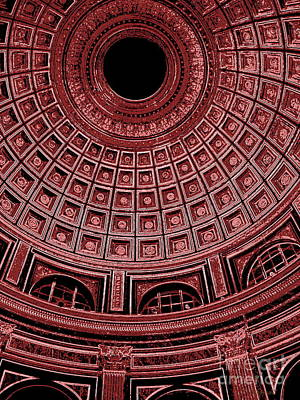 Poster featuring the photograph Dome. Vatican. Red by Tanya  Searcy