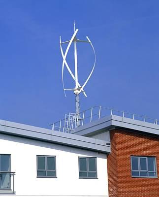 Domestic Micro Wind Turbine Poster by Martin Bond