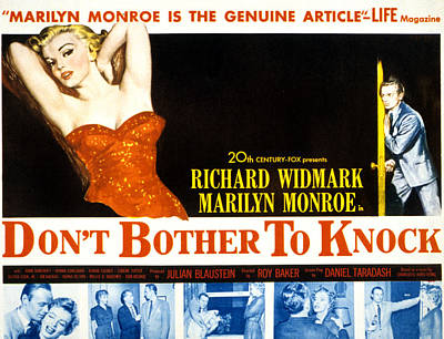 Dont Bother To Knock, Marilyn Monroe Poster by Everett