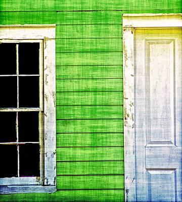 Door And Window Poster by Nancie Rowan