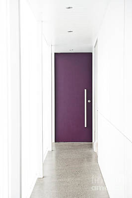 Door At End Of Hallway Poster by Jacobs Stock Photography