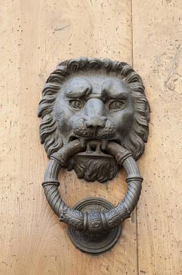Door Knocker - Metal Lion Head Poster