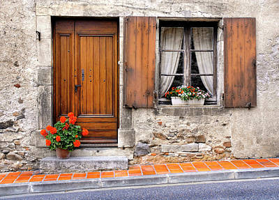 Poster featuring the photograph Doorway And Window In Provence France by Dave Mills
