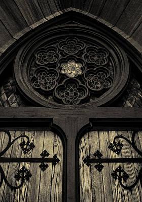 Doorway To Faith - First Presbyterian Church Of Salt Lake City Poster by Steven Milner