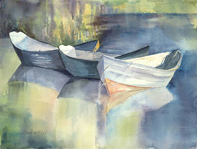 Dories I Poster by Bonnie Ross