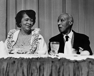 Dorothy Height And A. Philip Randolph Poster by Everett