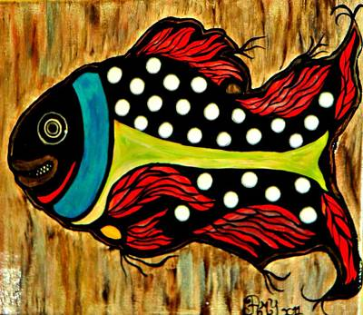 Dotted Fish Poster by Amy Carruth-Drum