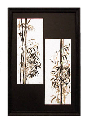 Poster featuring the painting Double Bamboo by Alethea McKee