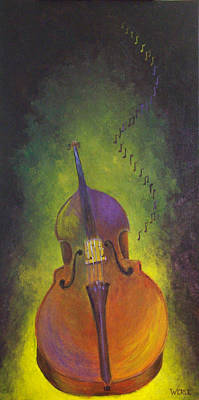 Double Bass Poster by Bill Werle