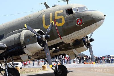 Douglas C47 Skytrain Military Aircraft 7d15774 Poster by Wingsdomain Art and Photography
