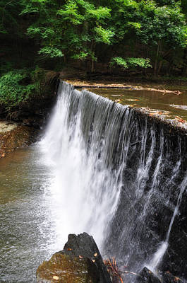 Dove Lake Waterfall - Gladwyne Poster by Bill Cannon