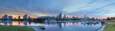 Downtown Chicago From Burnham Harbor Poster by Twenty Two North Photography