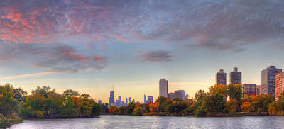 Downtown Chicago Sunrise Poster by Twenty Two North Photography