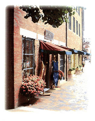 Poster featuring the painting Downtown Newburyport by Anthony Ross