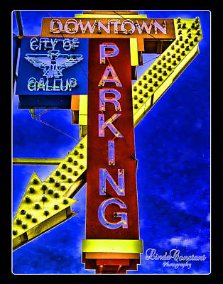 Poster featuring the photograph Downtown Parking by Linda Constant
