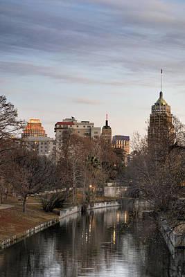 Downtown San Antonio, Texas Poster by Carol Wood