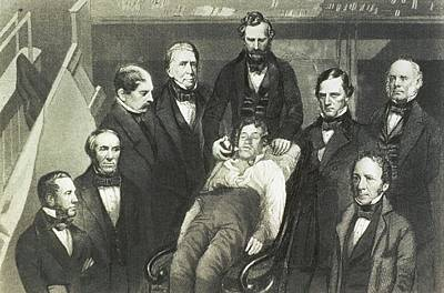 Dr. William T.g. Morton Administering Poster by Everett