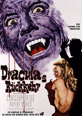 Dracula Has Risen From The Grave Poster by Everett