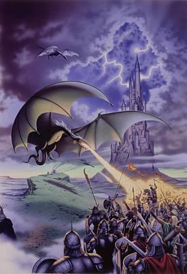 Dragon Combat Poster