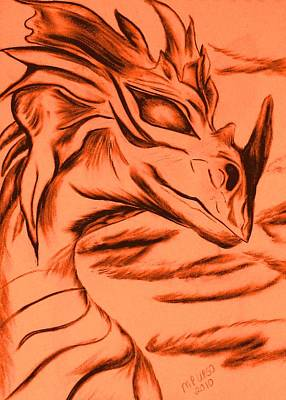 Dragon In Color Poster by Maria Urso