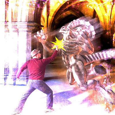Poster featuring the photograph Dragon Warrior by Michael Taggart