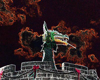 Dreadful Dragon - Digital Art Poster