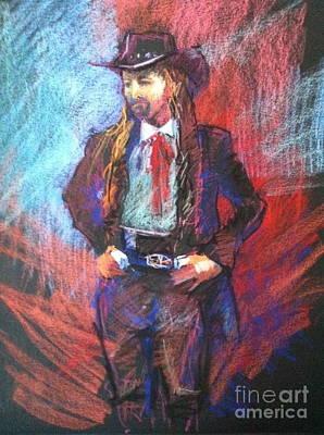 Dreadlock Cowboy Poster by Pamela Pretty
